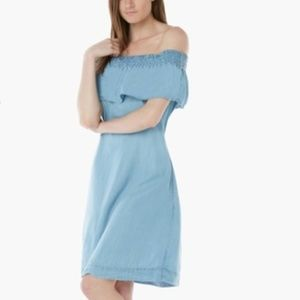 NWT Off-Shoulder Chambray Dress, S